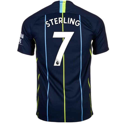 2018/19 Kids Nike Raheem Sterling Manchester City Away Jersey