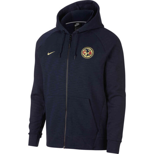 Nike Club America Full-zip Optic Hoodie – Obsidian/Cobalt Tint/Heather/Lemon Chiffon