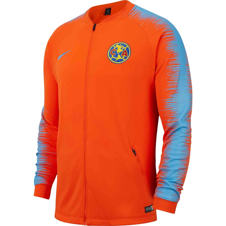 separation shoes e71a8 e6025 Nike Club America Anthem Jacket - Safety Orange/University ...
