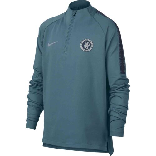 Nike Chelsea Squad Drill Top – Youth – Celestial Teal/Obsidian
