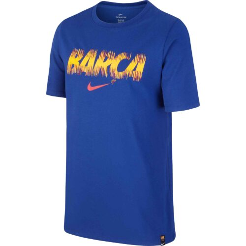 Nike Barcelona Preseason Tee – Youth – Deep Royal Blue