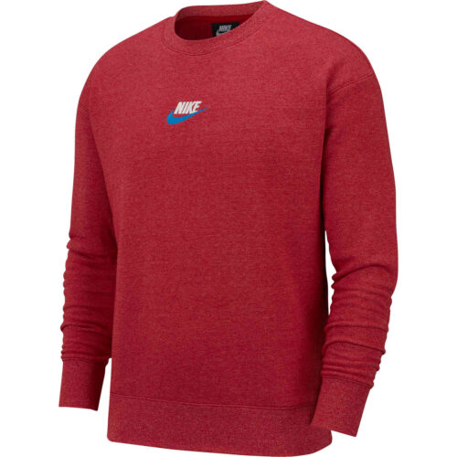 Nike Heritage Crew – Gym Red/Heather
