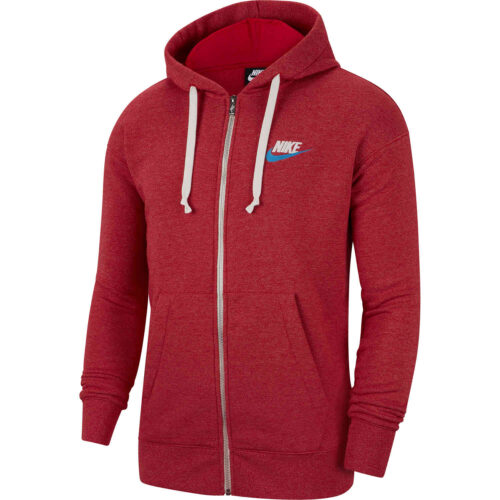 Nike Heritage Full-zip Hoodie – Gym Red/Heather
