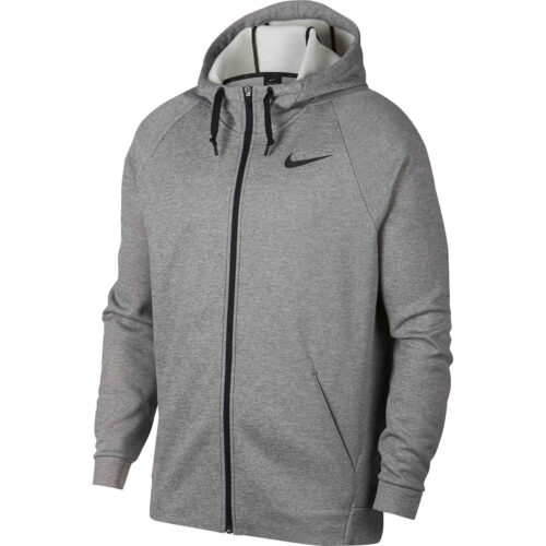 Nike Therma Full-zip Hoodie – Dark Grey Heather/Black
