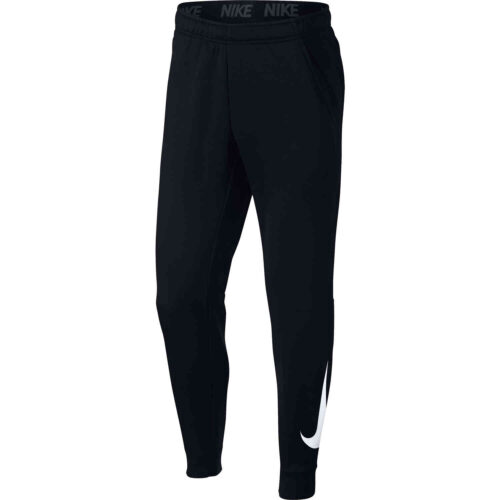 Nike Therma Tapered Swoosh Pants – Black