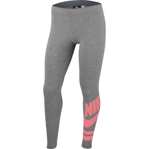 Girls Nike GX3 Favorite Leggings – Carbon Heather/Pink Gaze