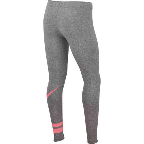 Girls Nike GX3 Favorite Leggings – Carbon Heather/Pink Gaze