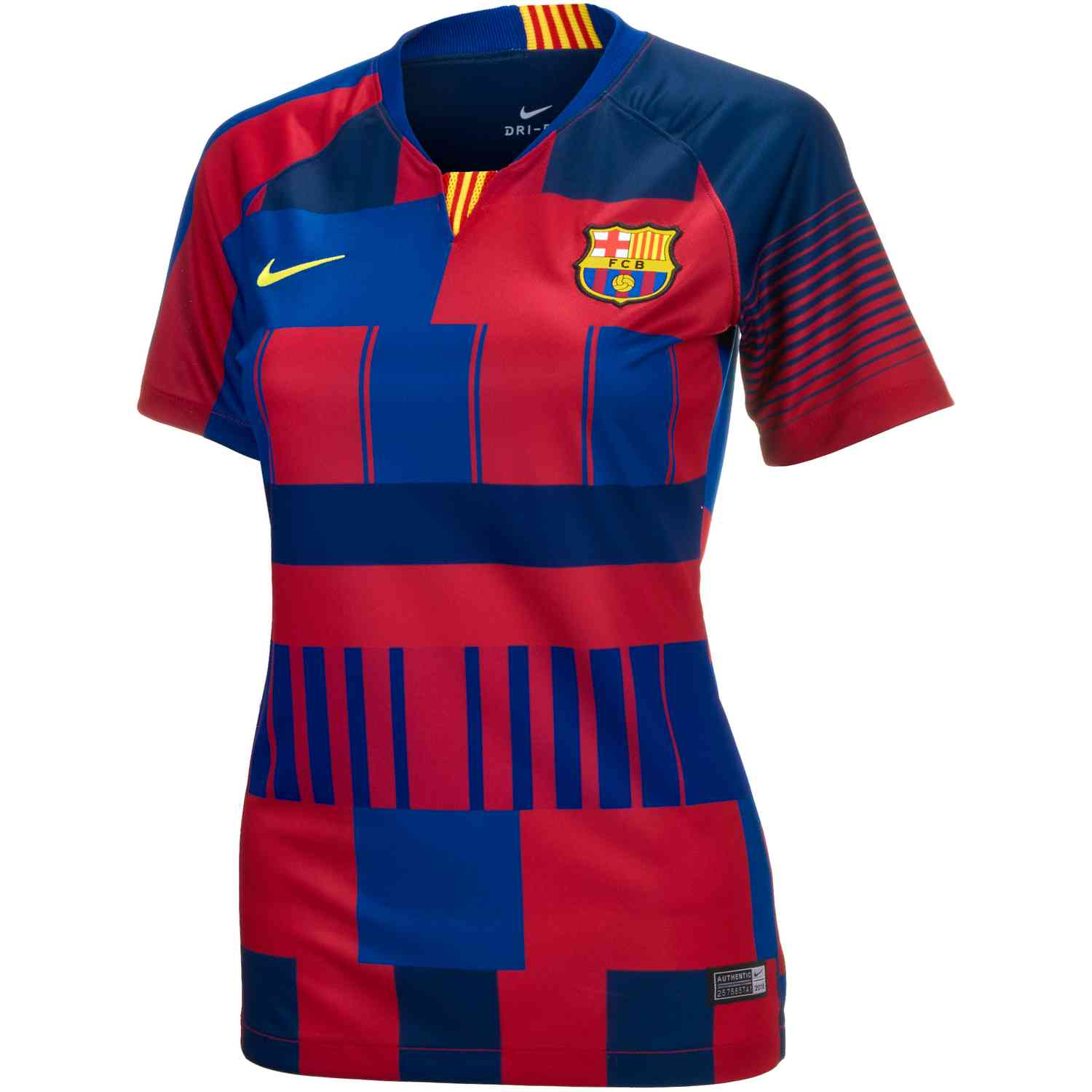 44f00c6dd Nike and Barcelona 20th Anniversary Home Jersey - Womens - SoccerPro