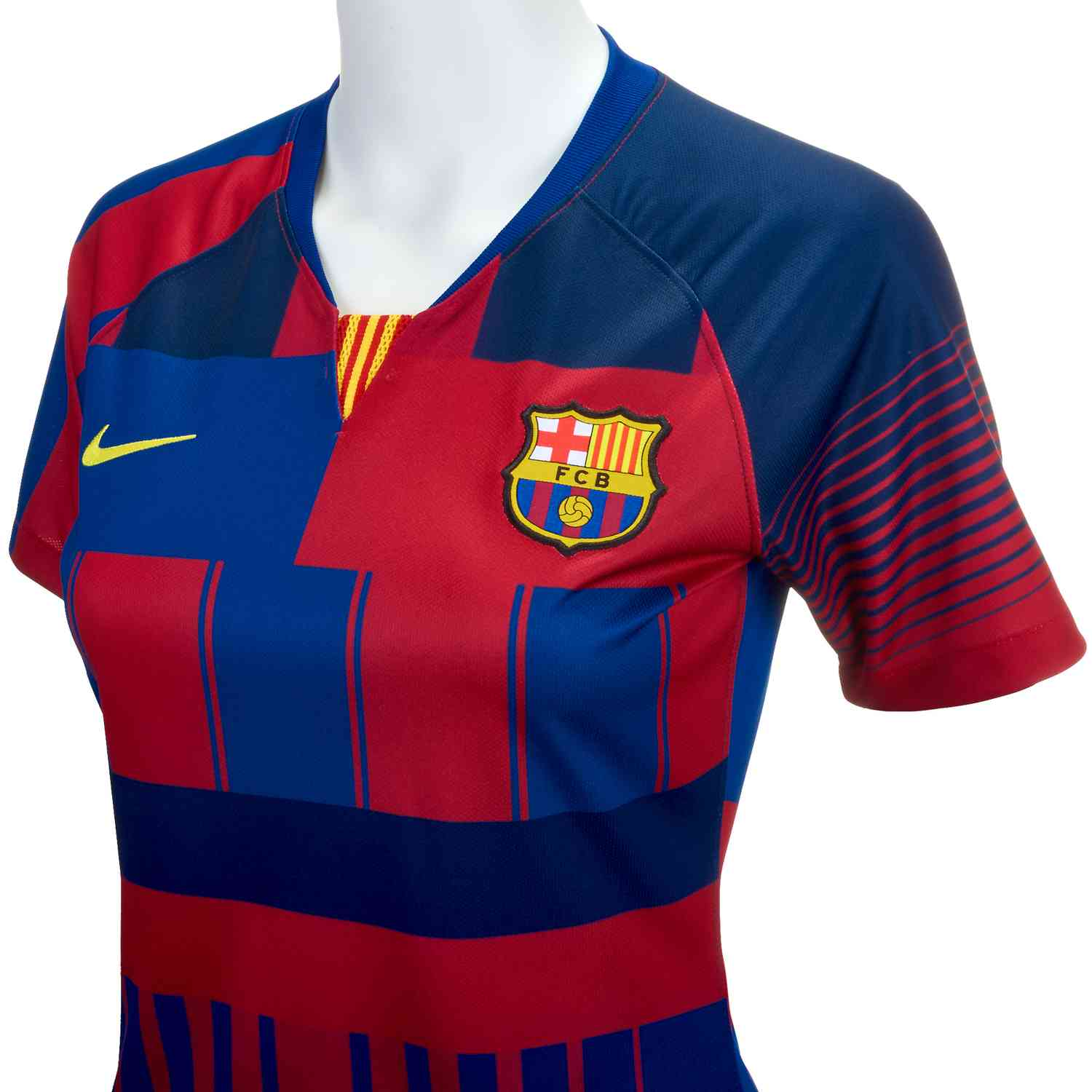 cff47ae2a4b Nike and Barcelona 20th Anniversary Home Jersey - Womens - SoccerPro