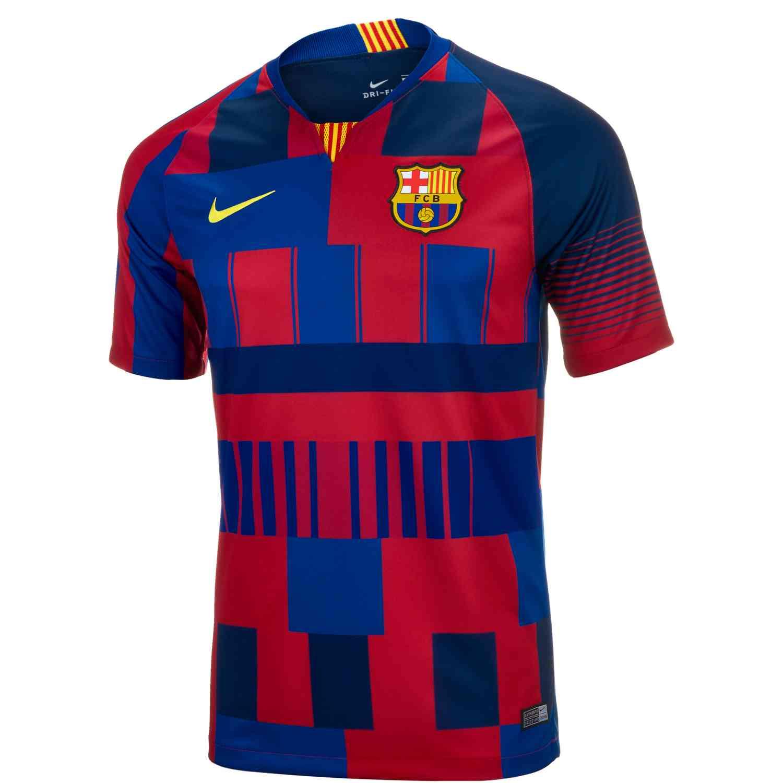 quality design 1c80e e3379 Nike and Barcelona 20th Anniversary Home Jersey - SoccerPro