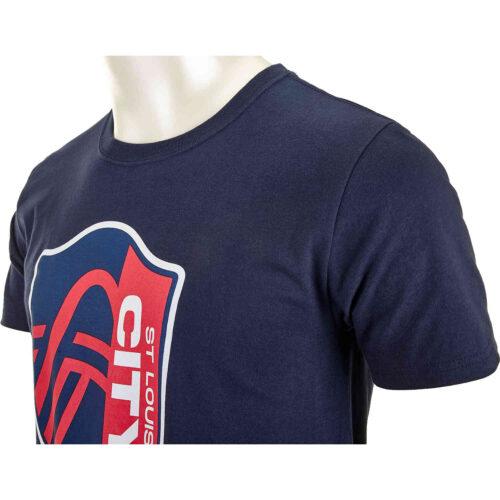 Kids St. Louis City SC Crest Tee – Navy