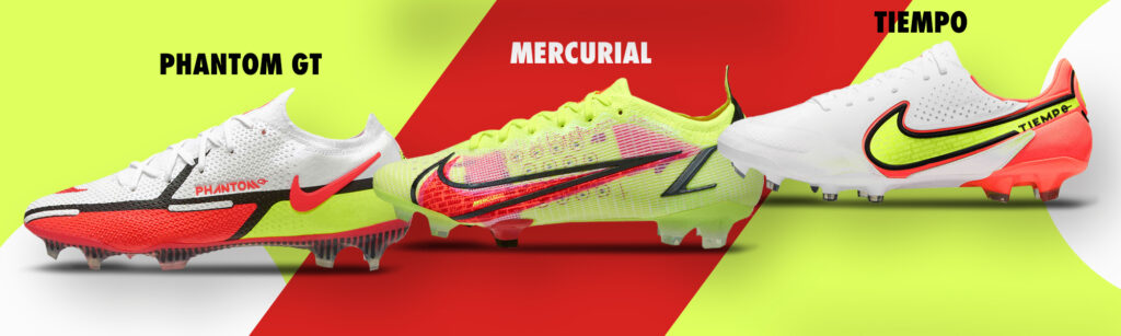 Nike Soccer Cleats Phantom GT Mercurial Tiempo