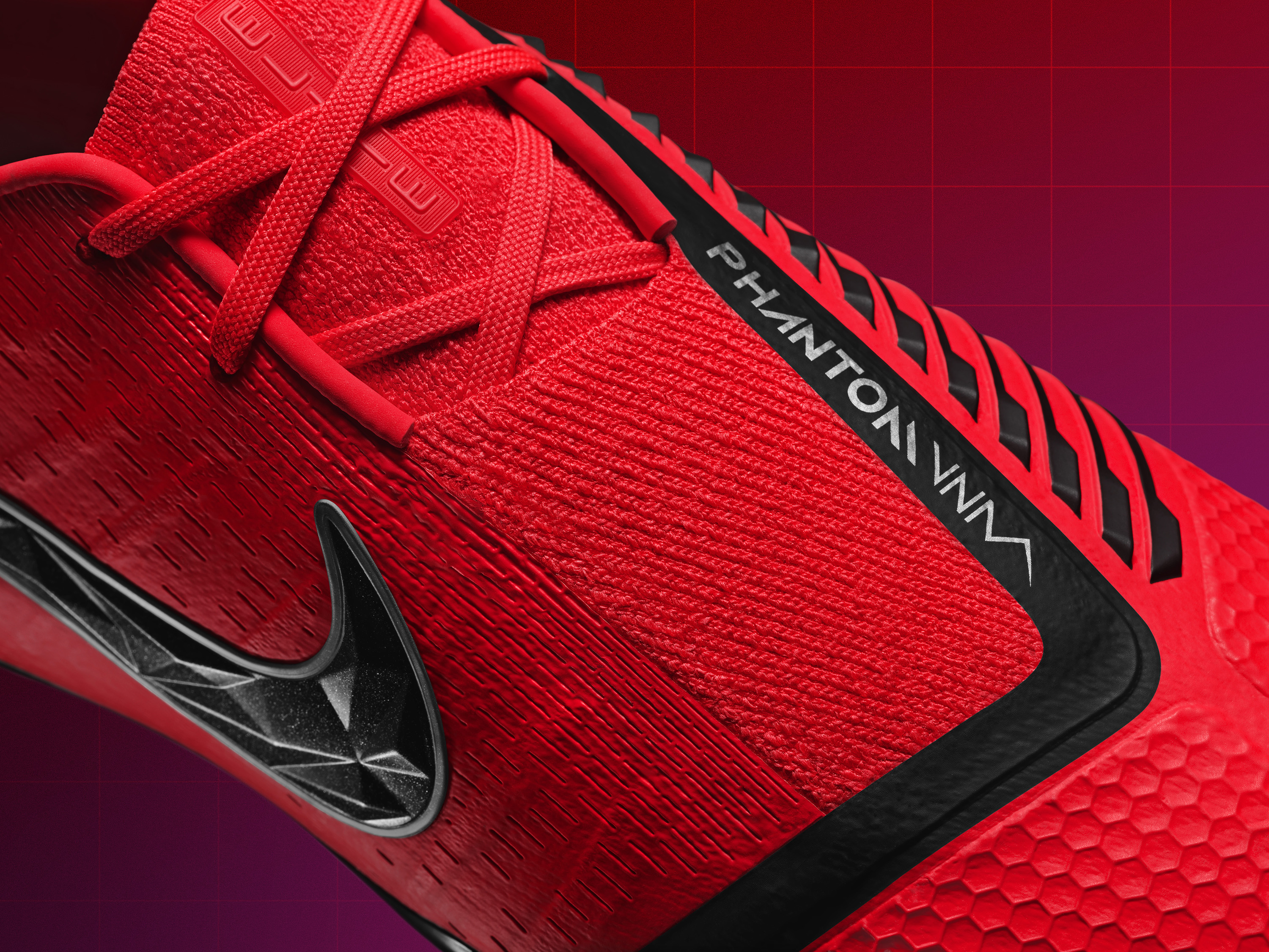 b786f9b92 FLYKNIT UPPER  Full Flyknit upper covered with a skin to keep it  weatherized and durable. Having a full Flyknit knit upper allows the VNM to  mold to the ...