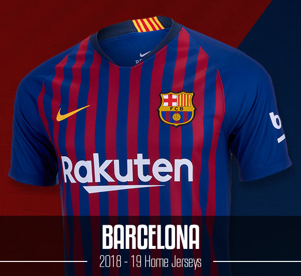 Barcelona 2018-19 Home Jerseys