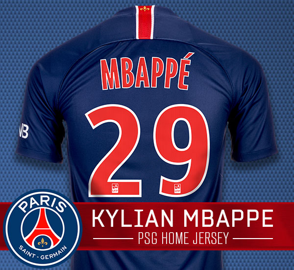 Mbappe PSG 2018-19 Home Jersey