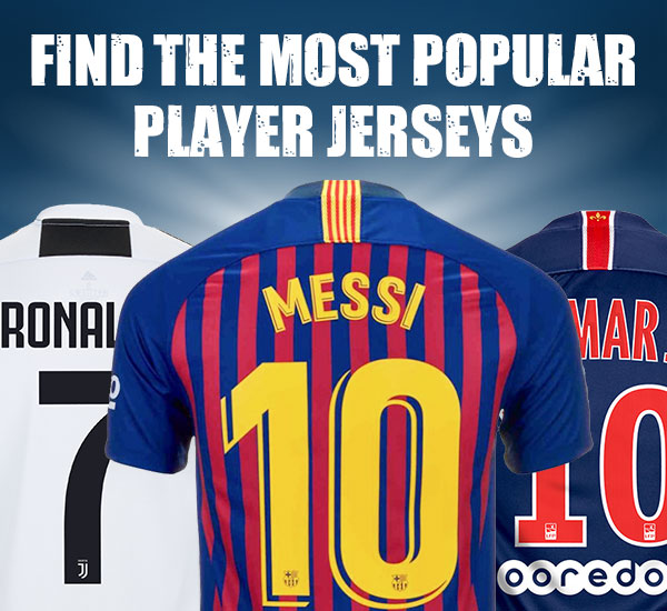 Most Popular Player Jerseys