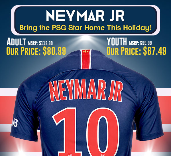 Neymar Jr 2018-19 Home Jersey Holiday Prices!