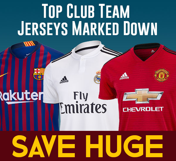 Top Club Team Soccer Jerseys Savings