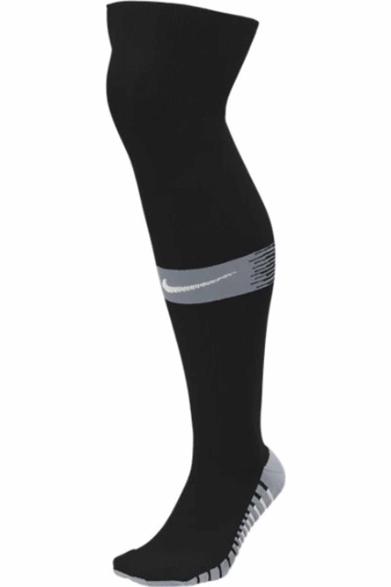 23a8b2f87606 Nike Team Matchfit Soccer Socks - Black Cool Grey - SoccerPro