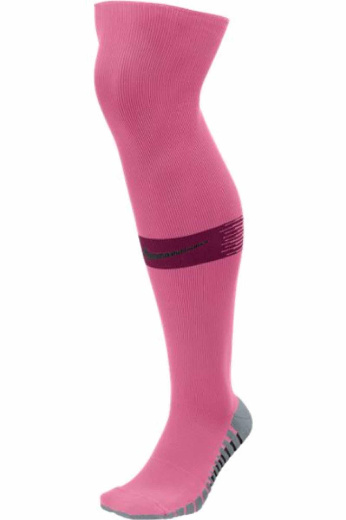 5aca2e5fc5e3 Nike Team Matchfit Soccer Socks - Hyper Pink Villain Red - SoccerPro