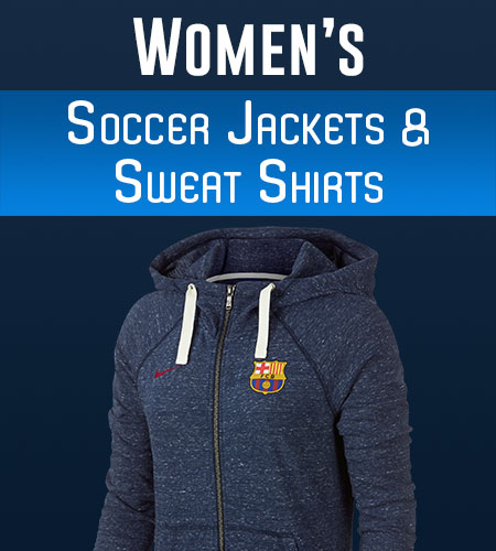Women's Soccer Jackets and Women's Soccer Sweatshirts