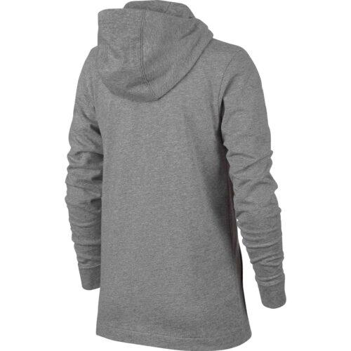 Kids Nike Sportswear Full-zip Hoodie – Dark Grey Heather