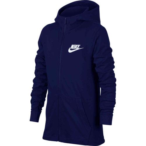 Kids Nike Sportswear Full-zip Hoodie – Blue Void