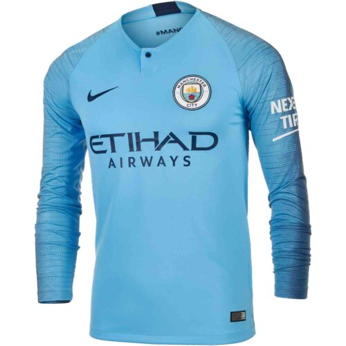 Nike Manchester City Home L/S Jersey 2018-19