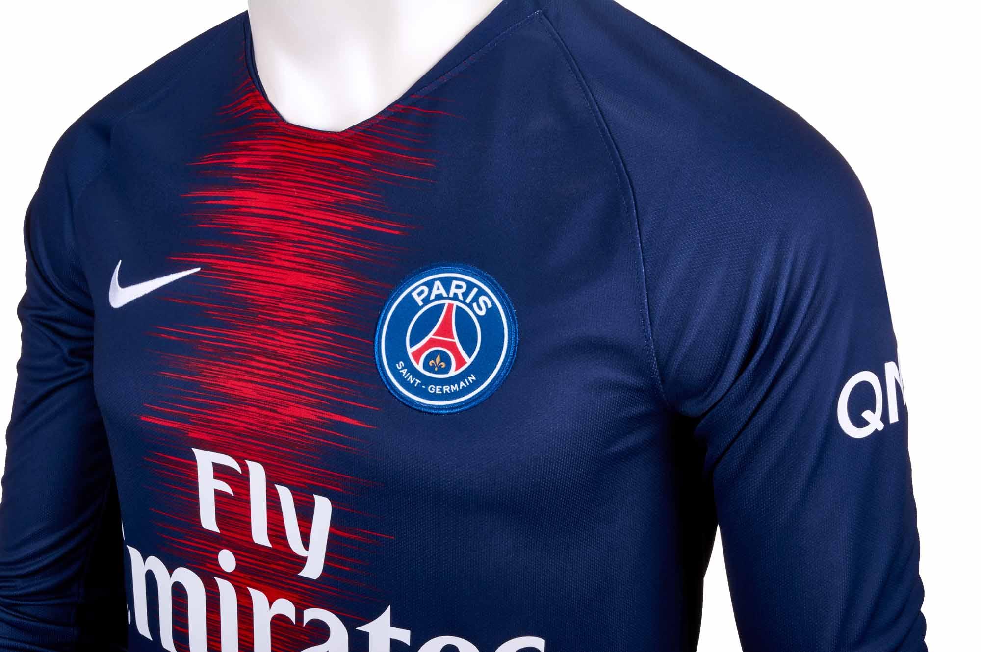 ffccc8d4cc0 Nike Kylian Mbappe PSG Home L S Jersey 2018-19 - Cleatsxp