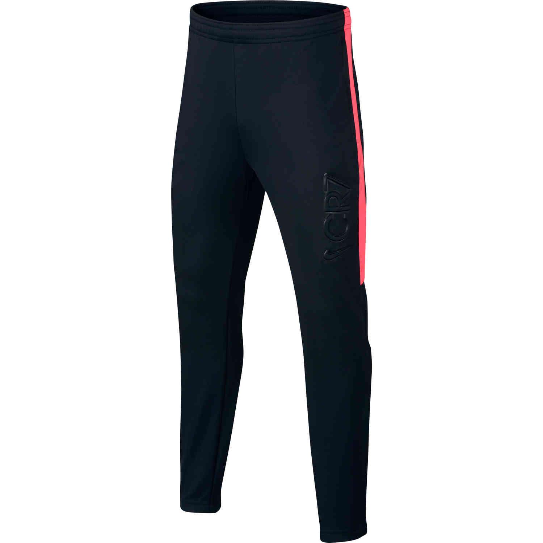 5775782fc Nike CR7 Dry Pant - Youth - Black Hot Punch - SoccerPro