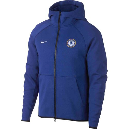 Nike Chelsea Techfleece Hoodie – Rush Blue/White