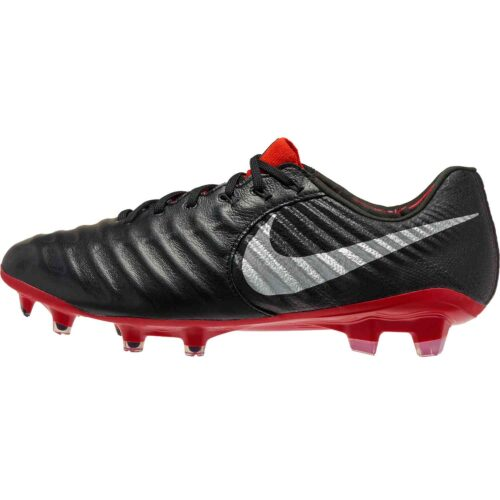 Nike Tiempo Legend 7 Elite FG – Black/Metallic Silver/Light Crimson