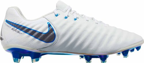 Nike Tiempo Legend VII Elite FG – White/Metallic Cool Grey