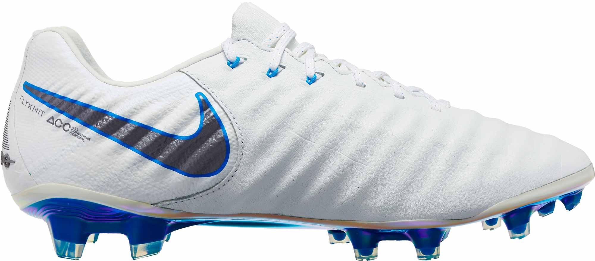 f2d319afb46 Nike Tiempo Legend VII Elite FG - White Metallic Cool Grey - SoccerPro