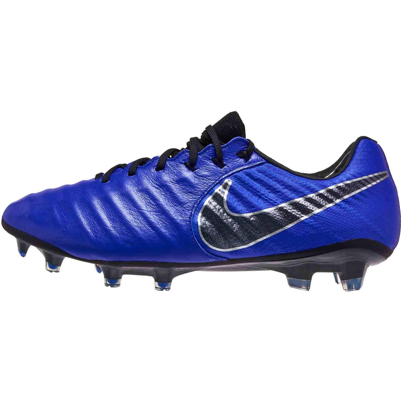 6bb0b22181a00 Nike Tiempo Legend 7 Elite FG - Racer Blue/Black/Metallic Silver ...