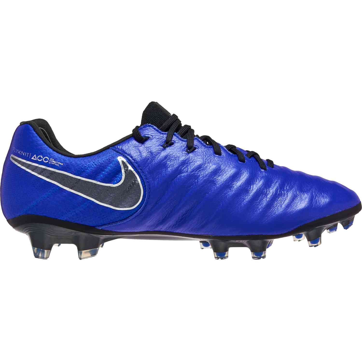 13eaac252 Nike Tiempo Legend 7 Elite FG - Racer Blue Black Metallic Silver ...