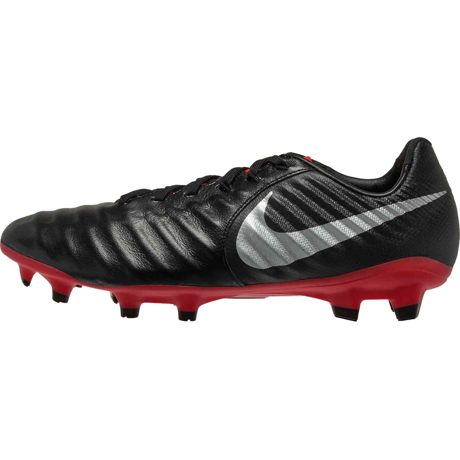 13de1b5f1 Nike Tiempo Legend 7 Pro FG - Black Metallic Silver Light Crimson ...