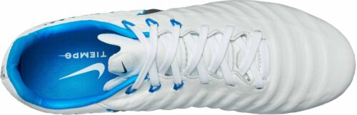 Nike Tiempo Legend VII Pro FG – White/Metallic Cool Grey/Blue Hero