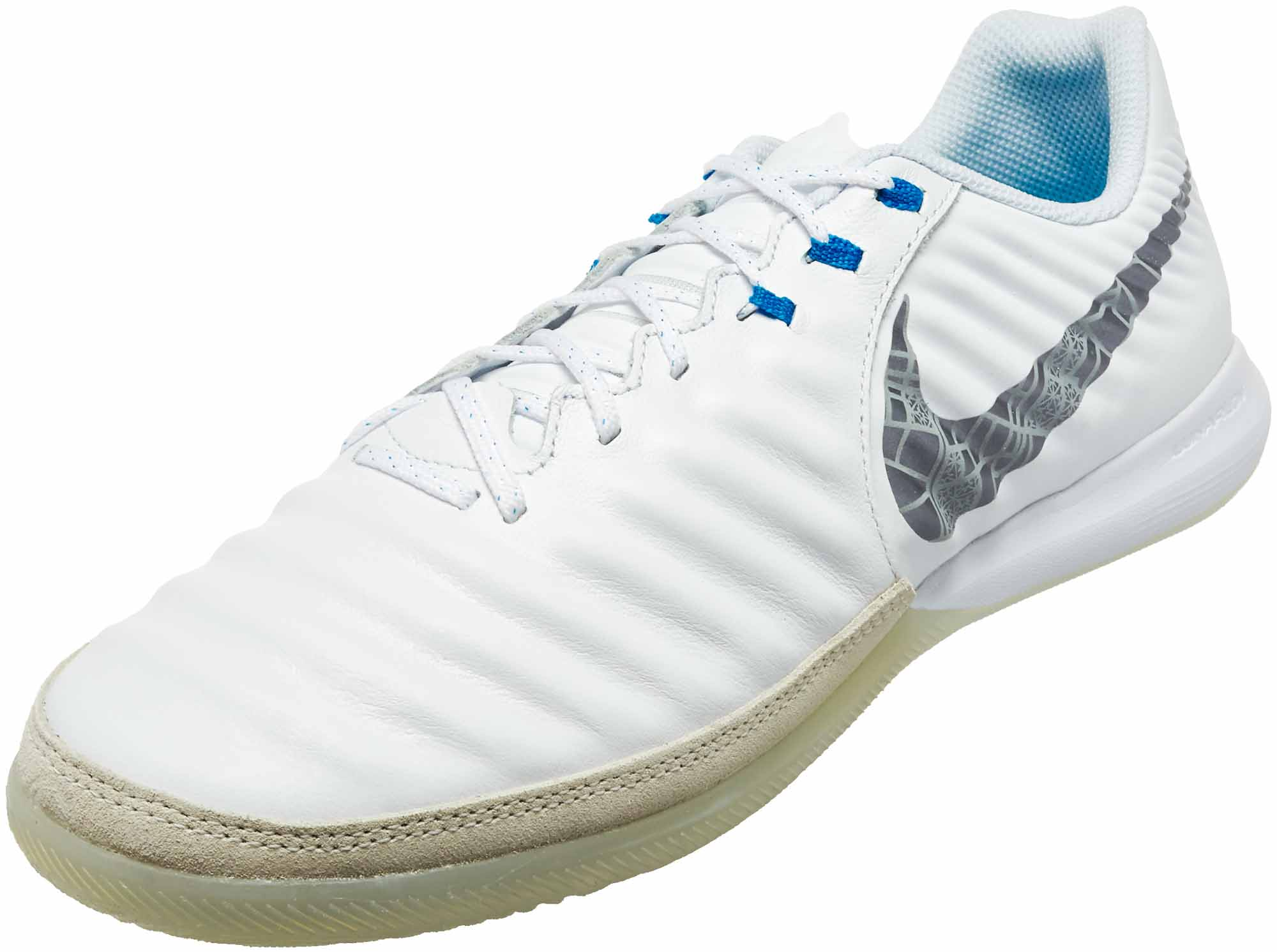 42e4948e6 Nike Tiempo LegendX 7 Pro IC - White/Metallic Cool Grey/Blue Hero ...