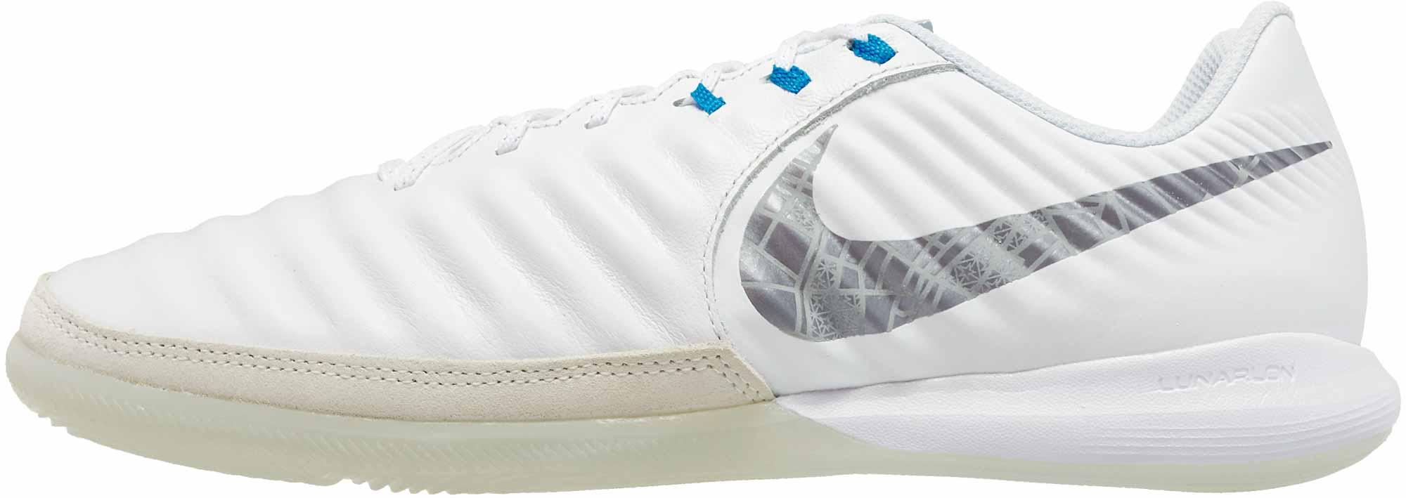 9ed332e9421a Nike Tiempo LegendX 7 Pro IC - White/Metallic Cool Grey/Blue Hero ...