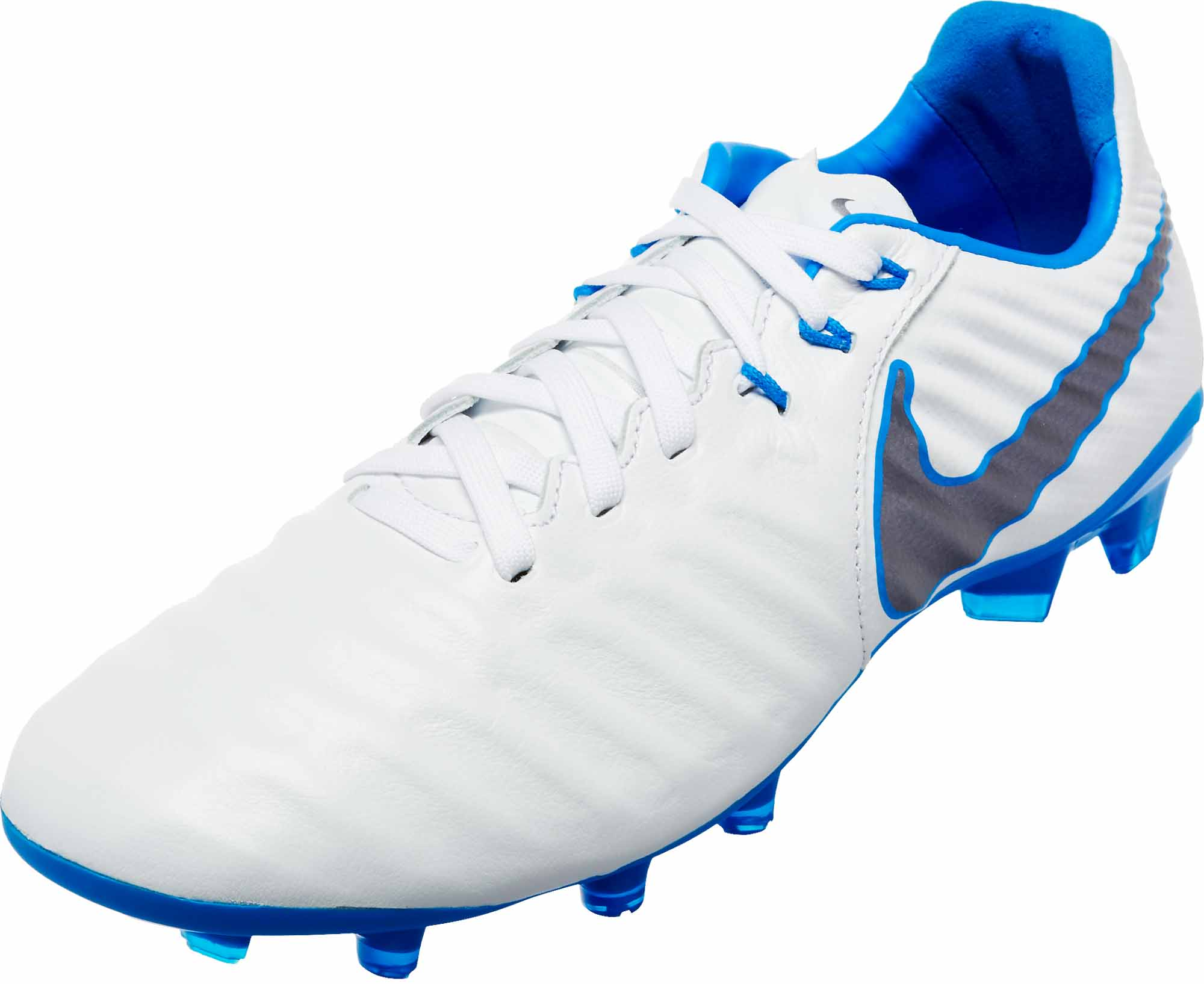 sports shoes 2e473 06a08 Nike Tiempo Legend VII Elite FG – Youth – White Metallic Cool Grey Blue