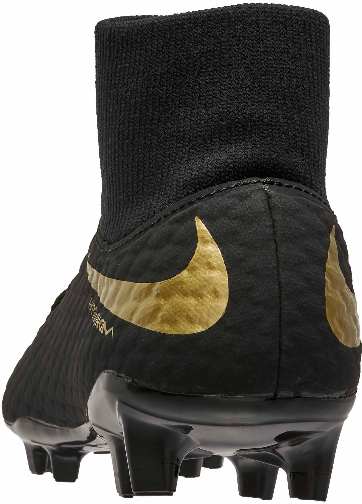 buy popular e5b05 81ba5 Nike Hypervenom Phantom III Academy DF FG – Black Metallic Vivid Gold