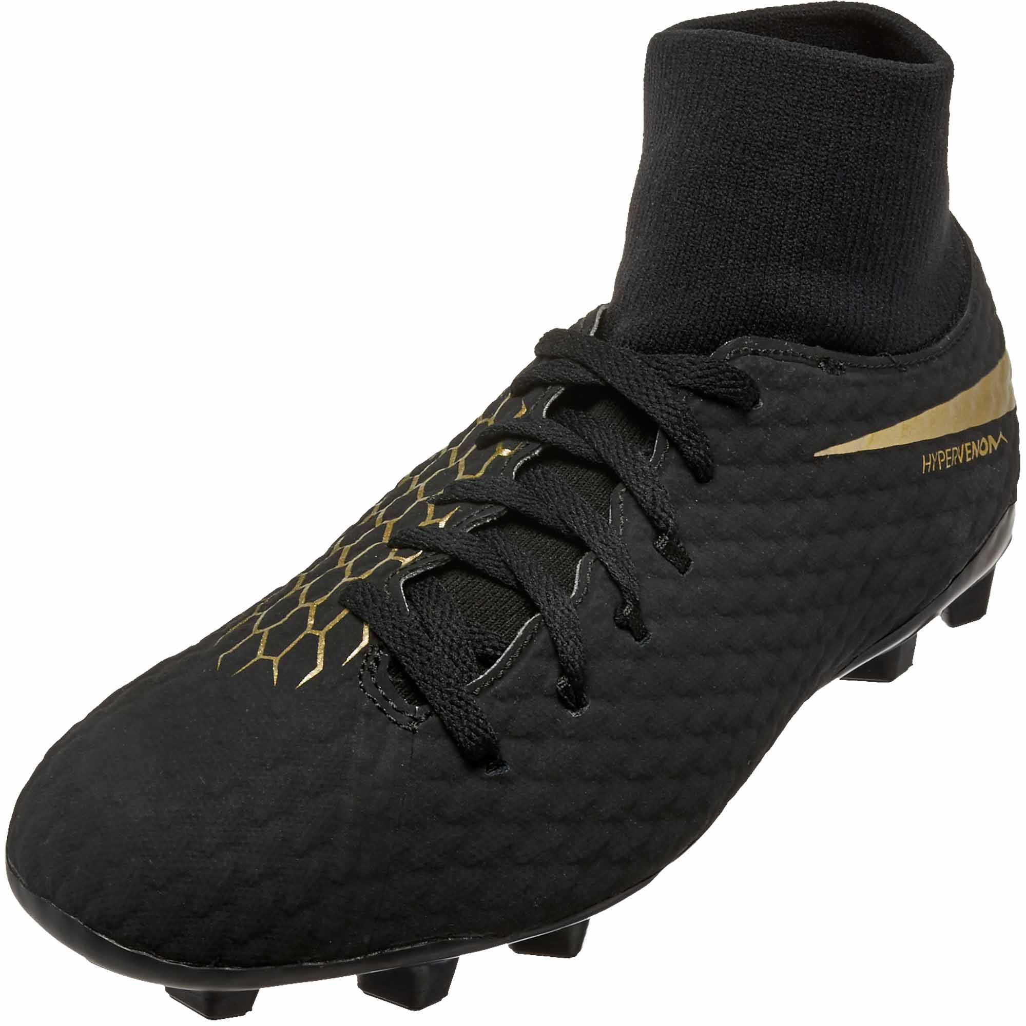 e8b2bc3d381a Nike Hypervenom Phantom III Academy DF FG – Youth – Black Metallic Vivid  Gold