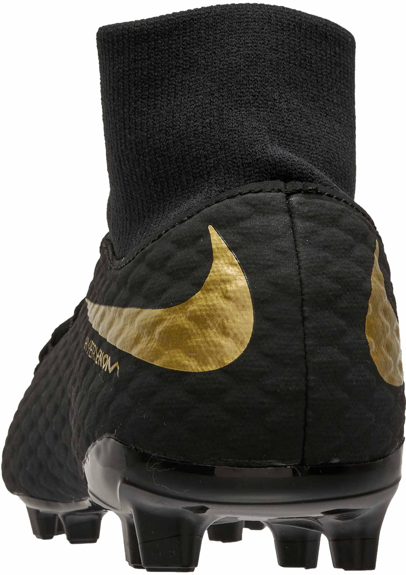more photos 9c6f3 0bf73 Nike Hypervenom Phantom III Academy DF FG – Youth – Black Metallic Vivid  Gold
