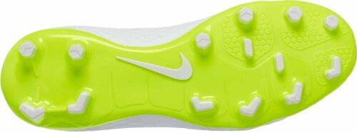 Nike Hypervenom Phantom III Academy DF FG – Youth – White/Metallic Cool Grey/Volt