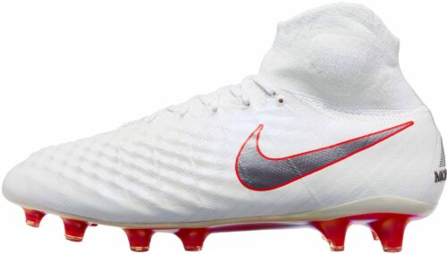 Nike Magista Obra II Elite DF FG – White/Metallic Cool Grey