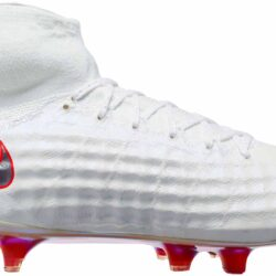 cfab8cfbb494 Nike Magista Obra II Elite DF FG - White Metallic Cool Grey - SoccerPro