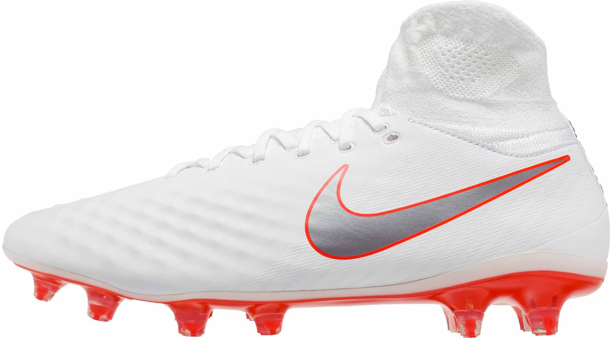 515bf3e4a Nike Magista Obra II Pro DF FG - White Metallic Cool Grey - SoccerPro