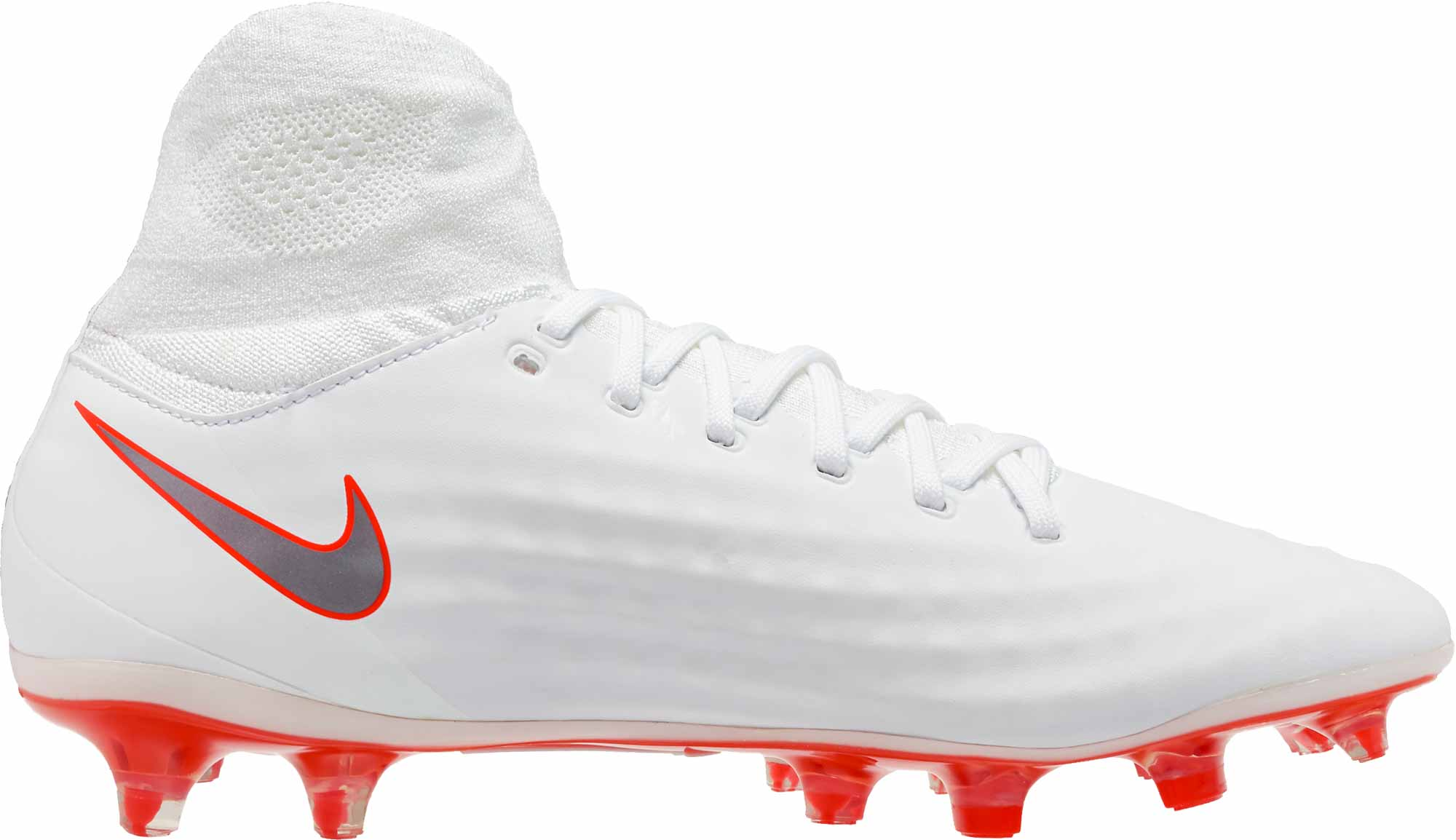 775978af8fa2 Nike Magista Obra II Pro DF FG - White/Metallic Cool Grey - SoccerPro