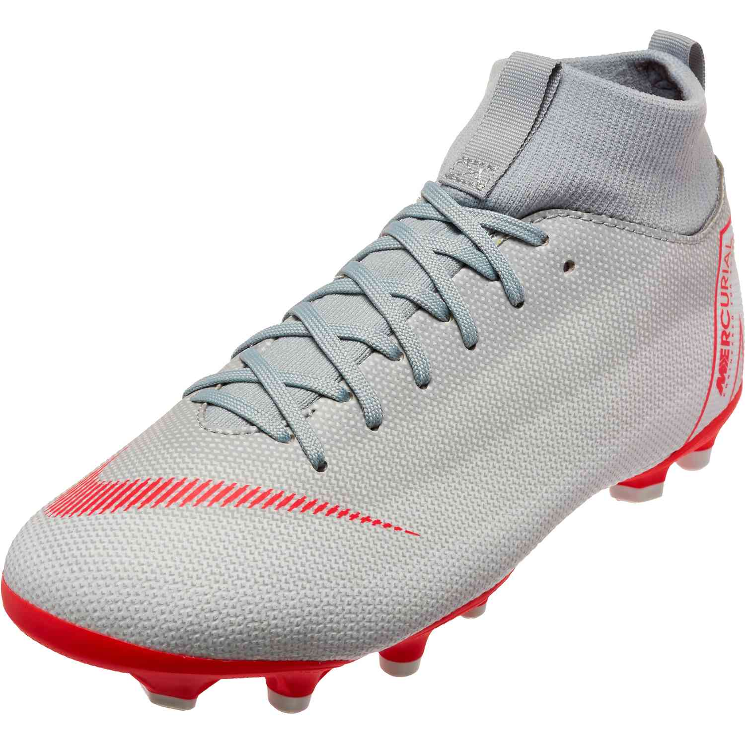 brand new f2db8 c02c6 Youth Nike Mercurial Superfly 6 Academy MG – Wolf Grey Light Crimson Pure  Platinum